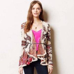 Moth Anthropologie Brand Sweater w/ Pom Pom Tie